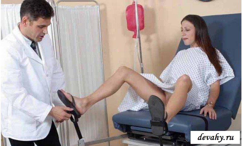 Пизду с серьгой осмотрел врач