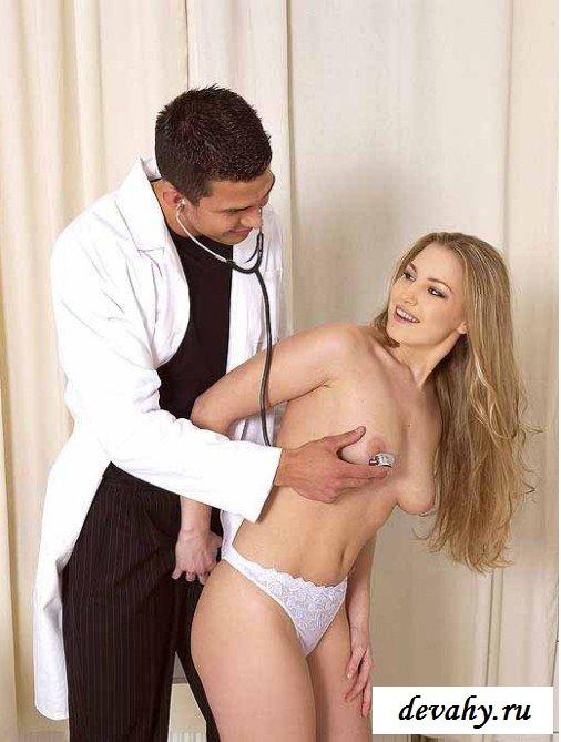 Хуй врача во рту пациентки