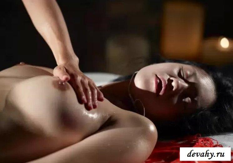 Возбуждающий расслабляющий массаж для телки