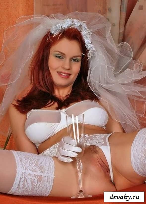 Чикса с шампанским ждет жениха