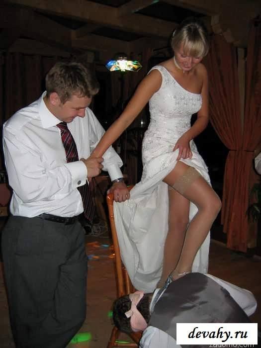 Обнаженные попки с кисками девушек на свадьбах