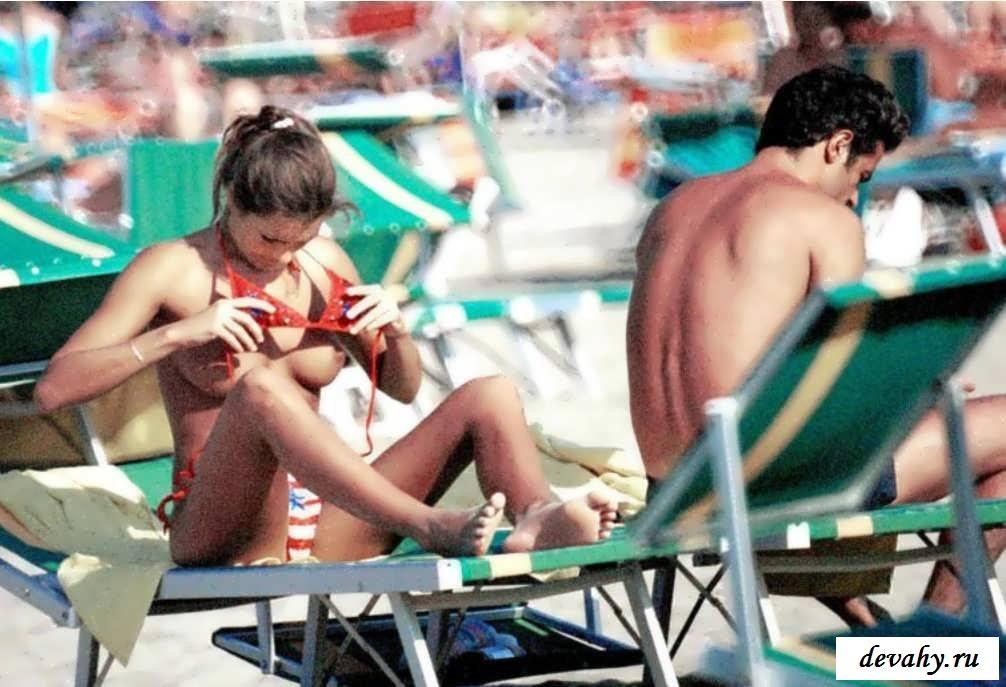 Алёна Середова обнажается во время отдыха