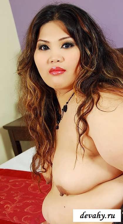 Пухлая представительница слабого пола снимет пеньюар (15 эротических снимков)