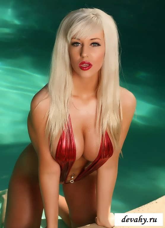 Гламурная блондинка  с офигенной фигурой  (15 фото эротики)