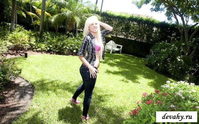 Развернутый вареник длинноволосой сучки со свелыми волосами (19 фотки эротики) секс фото