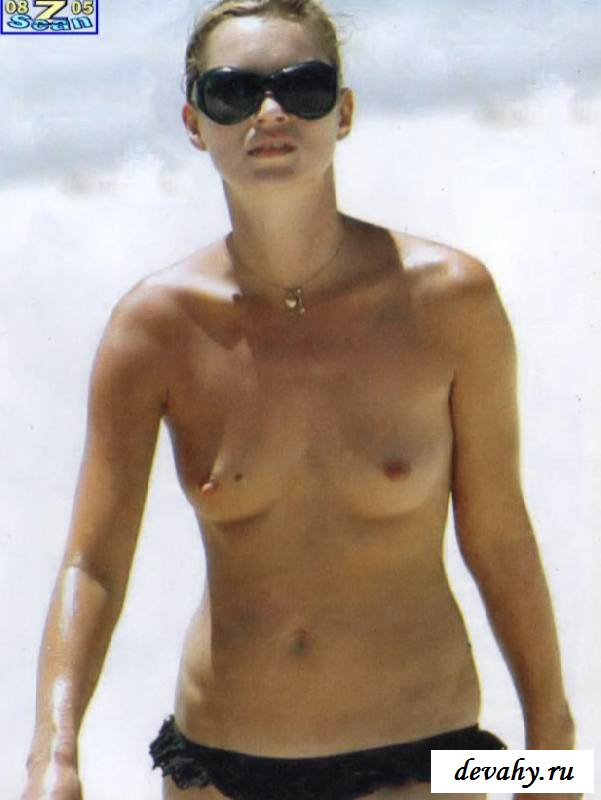 Эротика  Кейт Мосс на пляже (эротика)
