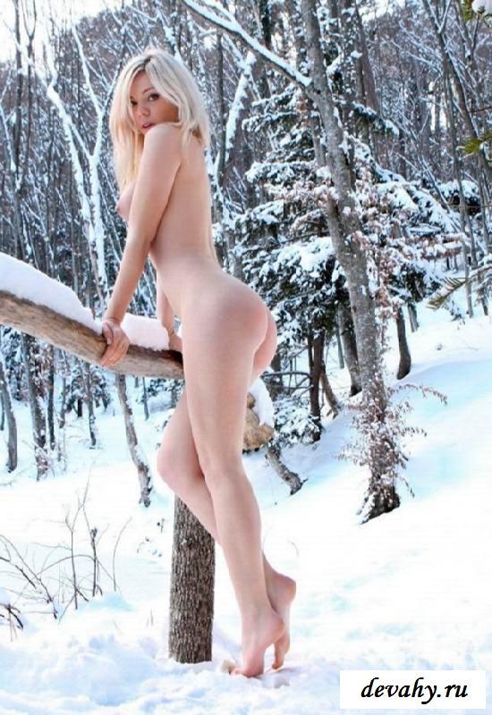Вагины голеньких девок на снегу (клубничка)
