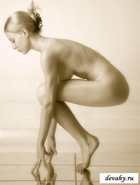 Голая сучка на зеркальном полу (Пятнадцать эро фото)