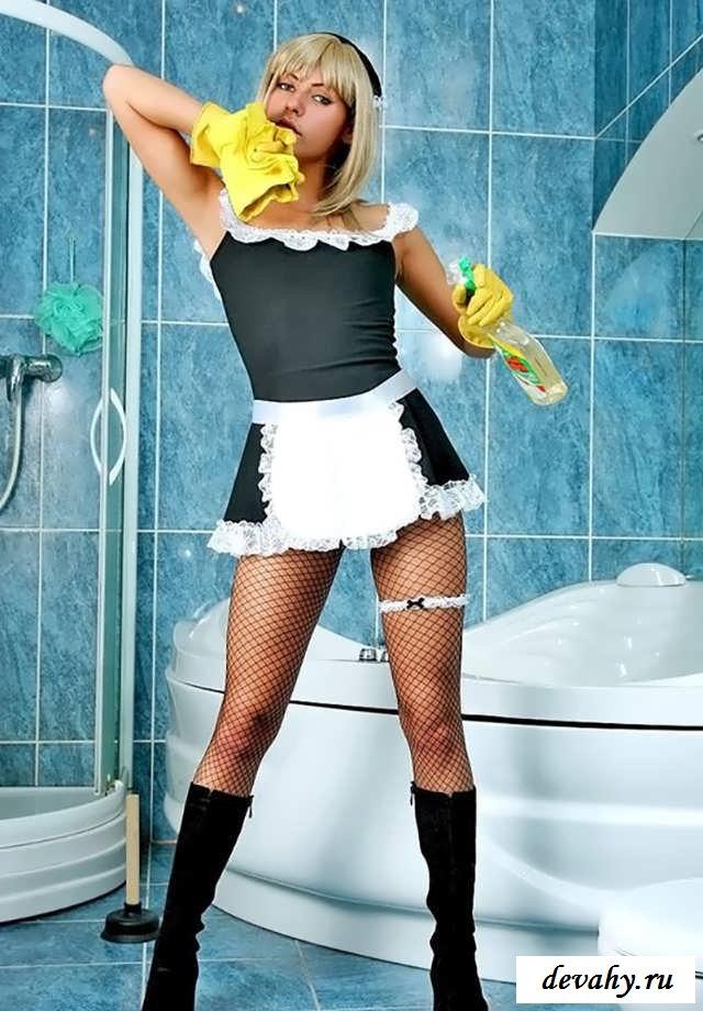 Голые русские служанки в ванной раком (16 фото эротики)