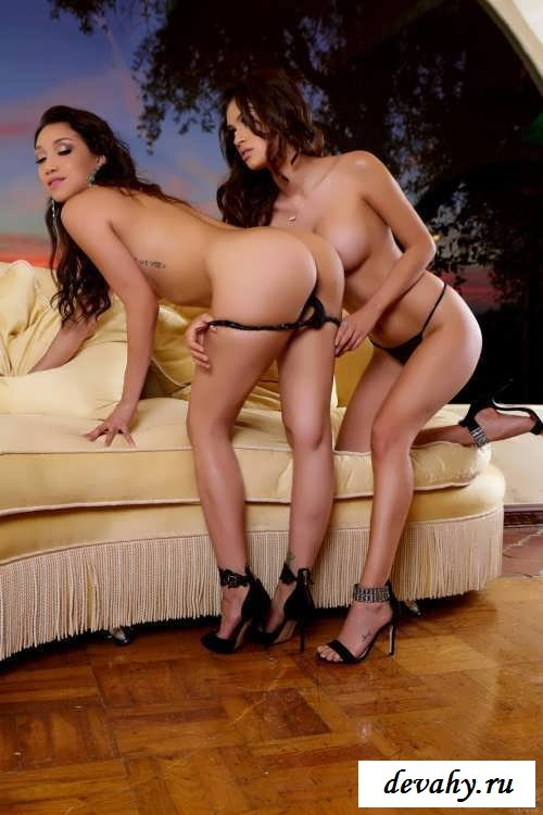 Изящная клубничка от Vanessa Veracruz и Vicki Chase  (19 эротические фотографии)