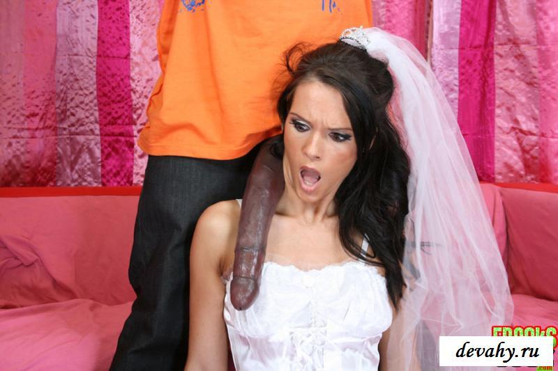 Клубничка со кончёй на нежной невесте смотреть эротику