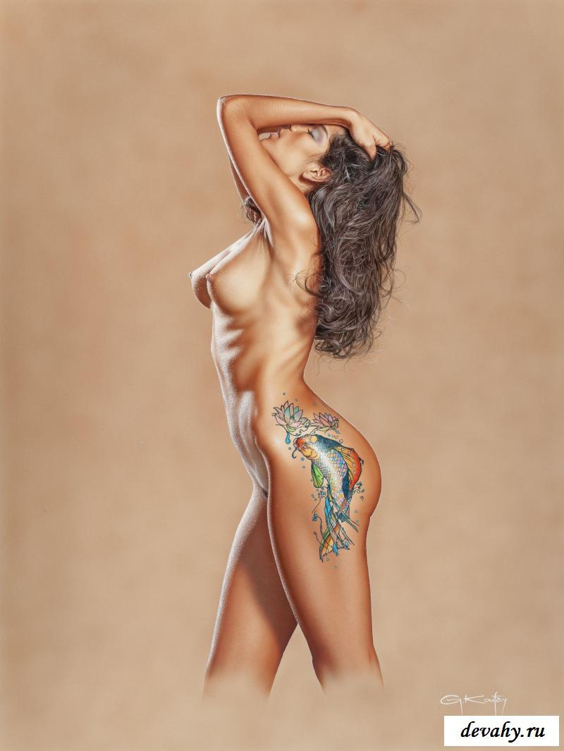 Красивые обнажённые тёлки на рисунках