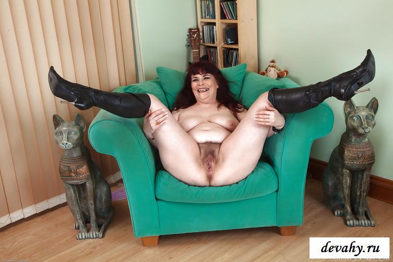 Эротика зрелой толстой тетки с огромным секелем