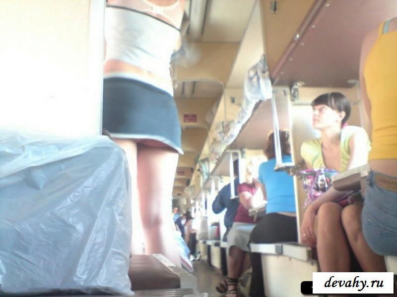 Эротичные снимки девушек в поездах