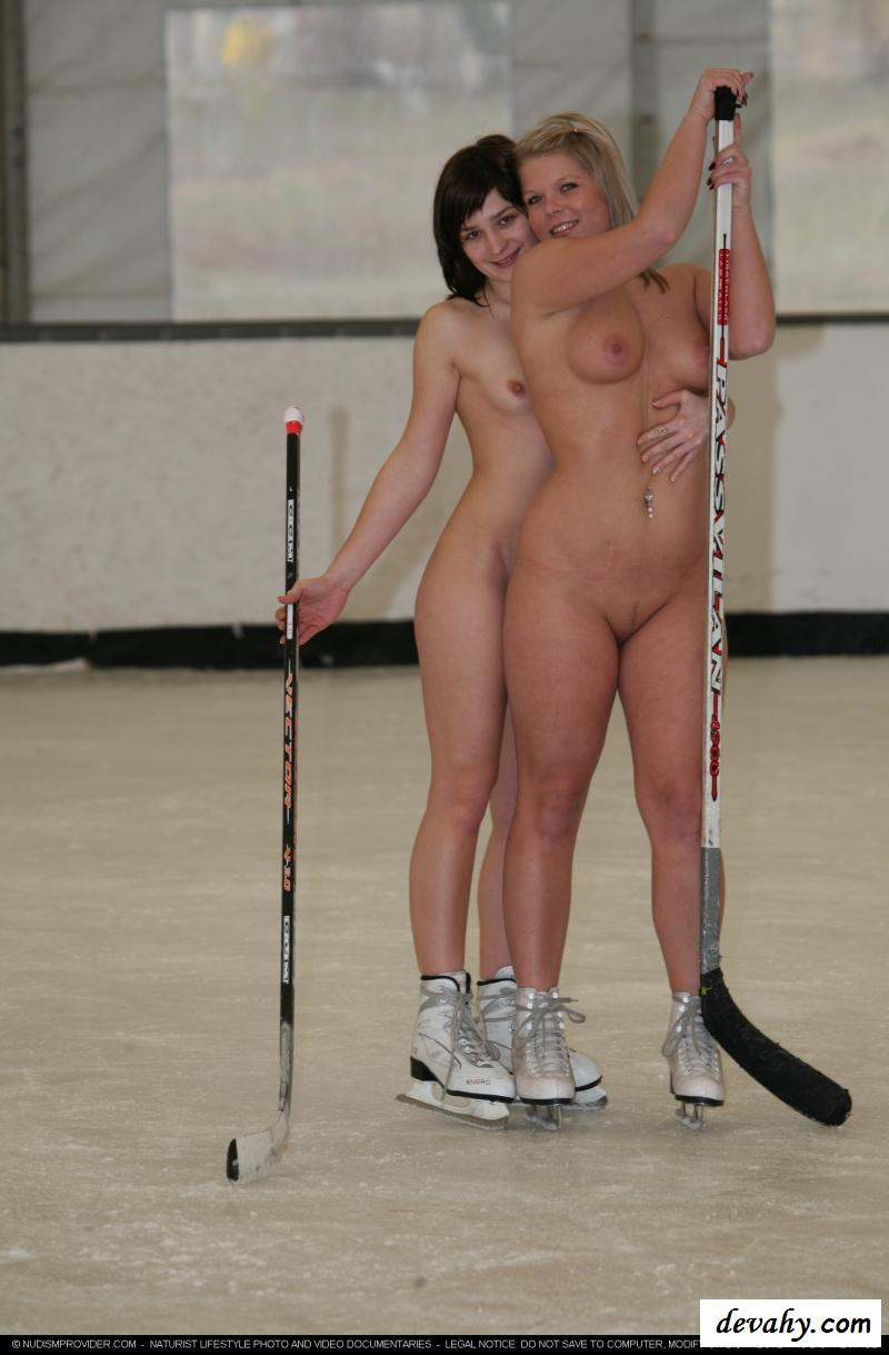 Naked ice skating girl